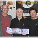 THE WAR OF THE WORLDS IN AUSTRALIA (LEFT TO RIGHT) CHRIS THOMPSON, ROB JAN, JEFF WAYNE- SEPTEMBER, 2007- ZERO-G: SCIENCE FICTION, FANTASY & HISTORICAL RADIO SHOW, 3RRR FM.