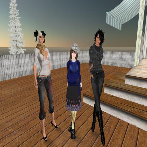 Cate, Sayuri and me