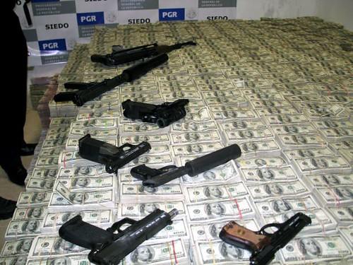 Seized drug money and guns