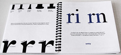Typography Book - Serifs and Unity (sciencensorcery) Tags: print typography design books illustrator indesign