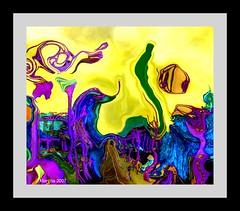 Homenaje a Van Gogh (Homage to Van Gogh) (Marvillas) Tags: yellow landscape artist colours shapes violet vivid paisaje colores virtual painter forms abstraction formas homage vangogh pintor artista homenaje abstraccion 10faves jalalspages thatsclassy ishkolorkraft abstractartaward