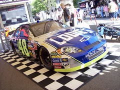 Jimmie Johnson's #48 Lowe's Chevrolet Monte Carlo SS race car... (Steve Brandon) Tags: auto usa chevrolet car racecar geotagged birmingham automobile gm michigan unitedstatesofamerica detroit voiture tires chevy nascar suburb 48 goodyear tyres sportscar stockcar generalmotors nextelcup woodwardavenue montecarloss   jimmiejohnson woodwarddreamcruise hendrickmotorsports goodyeareagle  gmfyi anamericanrevolution chevytriangle lowesracing 48loweschevroletmontecarloss