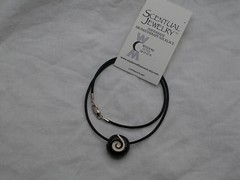 Black Spiral Aromatherapy Necklace