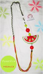 Colar Melancia (Dona Xica) Tags: necklace melancia fruta vero feltro 2008 colar corrente cordo