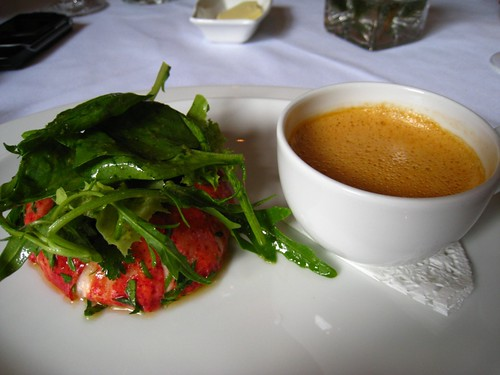 Lobster Tail Salad with Lobster Bisque.JPG