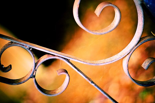 Going This Way And That - curved wrought iron in Stayton Oregon