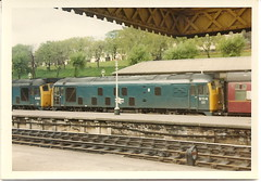 D5123 and 5114 Edinburgh Waverley 1969 (rugd1022) Tags: uk railways deltics