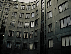 That Warsaw mood (gothicburg) Tags: architecture dark göteborg sweden gothenburg brokenwindow lightroom hauntedhouses olympusc5050z noncoloursincolour guessedgbg