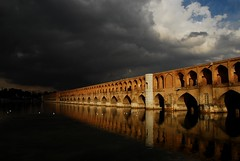 Love My City (Chelipa) Tags: bridge storm river day iran cloudy esfahan isfahan zayandehrood