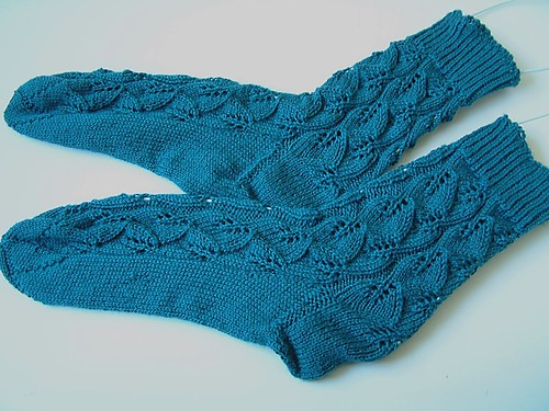 Embossed Leaves Socks- Done