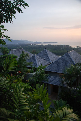 View across some of the 1 bedroom villas at Phuket Pavilions