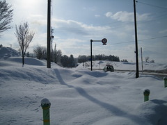 Snowy roads 02 (drayy) Tags: road street snow ski japan skiing nagano   nozawaonsen
