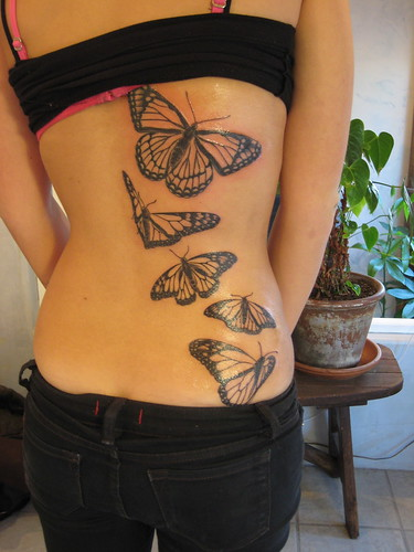 Tiger butterfly tattoo. Finished Monarch Butterfly Tattoo Tattoos