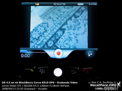 Grabando Videos en BlackBerry Curve 8310