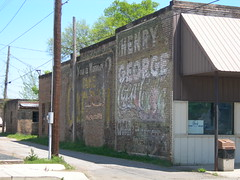 Faded Murals (jimmywayne) Tags: hope mural faded arkansas cocacola softdrink henrygeorge