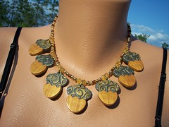 A Squirrels Bounty (clayangel_sc) Tags: art beauty fashion one necklace beads artist handmade originalart ooak jewelry polymerclay fimo clay gift sculpey handcrafted wearableart accessories bracelets earrings etsy wearable acessories brooches necklaces polymer millefiori artjewelry hypoallergenic adornments artisanjewelry canework handmadebeads artbeads handcraftedbeads pcagoe notpainted polymerclayjewelry oneofakindjewelry fauxjewelry southcarolinaartist jewelryartisan boldjewelry clayangel oneofakindpiece clayangelsc nopaintisinvolved finising