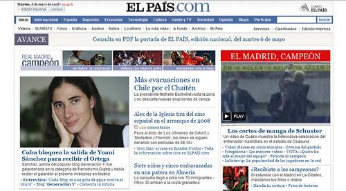 Yoaní Sánchez en Elpais.com