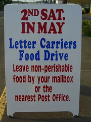 Its that time of year again! Please donate to the Stamp Out Hunger food drive. Photo by Jason Taellious.