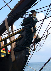 I Beg Your Pardon! (Barefoot In Florida) Tags: stpetersburg pier florida sailor figurehead