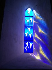 Millennium Window - Hunningham Church (kestrel49) Tags: uk blue england church window stainedglass millennium warwickshire hunningham