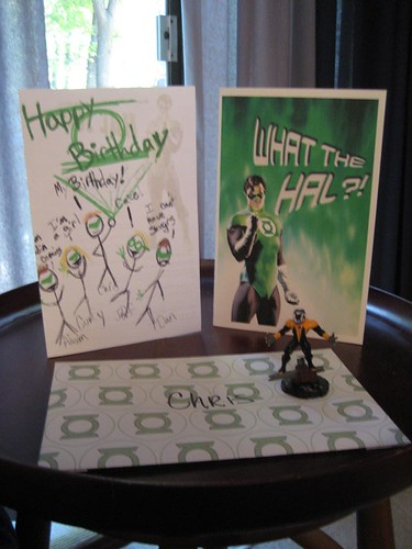 Green Lantern Birthday Cards
