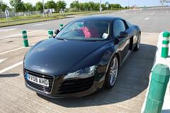Audi R8 (D's Carspotting) Tags: audi r8 france coquelles calais black 20100613 rv08aho le mans 2010 lm10 lm2010