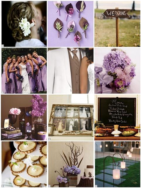 Is anyone else having a light purple and dark brown wedding?