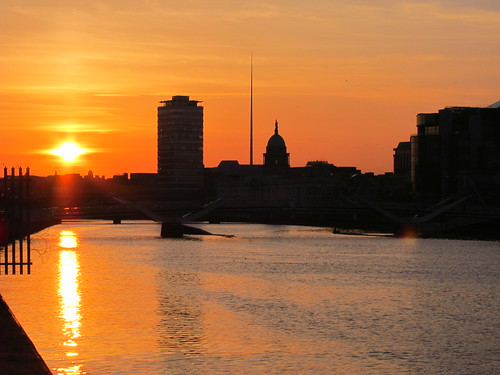 Sunset over Liffey