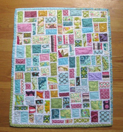 tickertape doll quilt