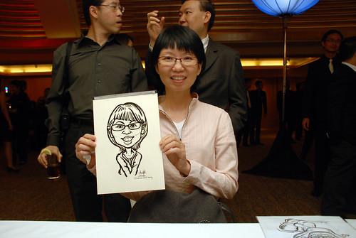 caricature live sketching for Great Eastern Achievers Nite 2011 - 3