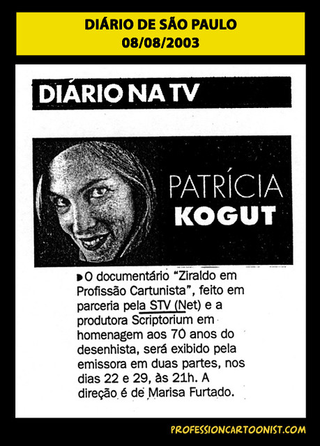 """""""Diário na TV"""" - Diário de São Paulo - 08/08/2003"""
