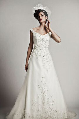 Matthew Christopher Elodie, off the shoulder, bridal gowns, washington DC wedding dresses