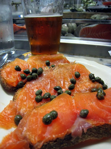 Cured Salmon... delicious.  Some of the best I've had.
