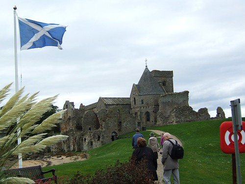 Inchcolm Abbey with Saltire