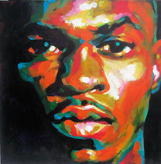 Riki (Cauquil Claude) Tags: portrait man black color male art colors painting eyes friend artist martinique fineart carribean peinture be caribbean coolest glance couleur blackmale 2b caribean riki westindies outremer caraibe contemporain acrilyc carribe carabe artlibre kokil cauquil tinoza
