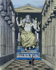 Statue of Zeus at Olympia (Wonders _) Tags: greece zeus olympia sevenwonders ancientgreece ancientworld classicalantiquity greekculture phidias greekhistory thesevenwondersoftheancientworld lastatuadizeusadolimpia statueofzeusatolympia sevenwondersancientworld