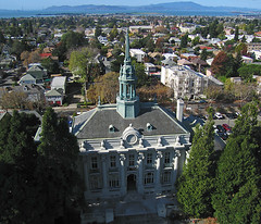 Old City Hall, Berkeley, California (Michael Layefsky) Tags: cityhall aerial kap kiteaerialphotography berkeleyca dopero berkeleyunifiedschooldistrict