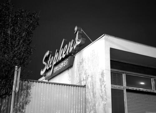 Stephens Parapet Facade Neon
