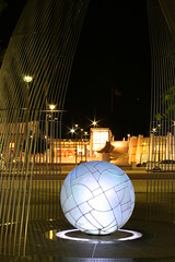 Civic Sculpture (Trevor_Page) Tags: light sculpture night ball glow photographyclass civic canberra source garemaplace trevorpage
