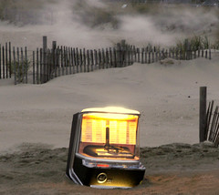 Jukebox on the Beach (Sister72) Tags: november music beach strange weird smog video interestingness sand smoke awesome nj odd jukebox monmouthcounty unusual musicvideo springsteen 2007 oceangrove 123nj