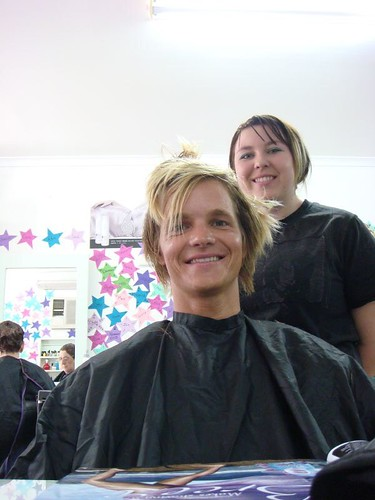 Kirby gave me a haircut in Tanunda - free of charge!