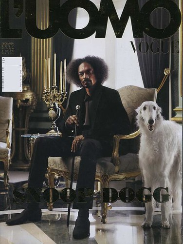 snoop DOGG on the cover of L'uomo Vogue
