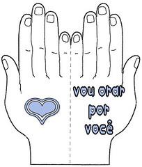 cartão de oração - mãos