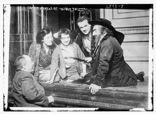 At rehearsal of OLIVER TWIST (LOC)