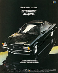 Reklame Opel Commodore E (1977) (jens.lilienthal) Tags: auto old classic car vintage advertising reclame ad voiture advertisement e advert older commodore werbung 1977 coupe reklame opel anzeige amzeige zeitungsreklame