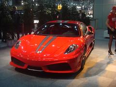 Ferrari F430 Scuderia (Michi1308) Tags: red car sony cybershot ferrari voiture sonycybershot f430 sonydsct70 viennaautoshow2008