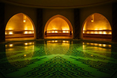 Hammam (roevin | Urban Capture) Tags: orange green water pool religious room islam mosaics mosque symmetry morocco casablanca walls marble hammam turkishbath hassanii mywinners superbmasterpiece ysplix betterthangood theperfectphotographer goldstaraward