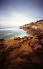 15 seconds of my life at Cape Kiwanda (Zeb Andrews) Tags: ocean orange rock oregon landscape fujireala pinhole pacificocean pacificnorthwest zeroimage pacificcity capekiwanda zero69 bluemooncamera zebandrews pinscapes zebandrewsphotography