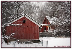 well red (suesue2) Tags: winter red house snow barn bravo michigan shed firstquality clintontownship suesue2 amazingmich