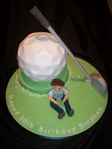 Massive Golf Ball Cake